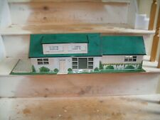 Vintage Marx Tin Litho 1960's Doll House Ranch Style