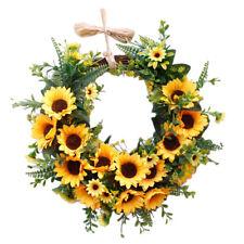 Handmade Sunflower Wreath Garland Xmas Wedding Home Door Hanging Ornaments