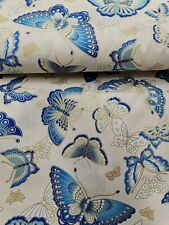 """Craft Cotton Metalic Butterfly's 100% cotton 60"""" wide"""