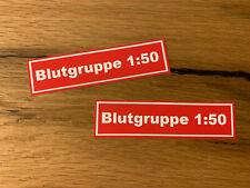 2x Zweitakter 1:50 Aufkleber Sticker für Roller Simson Schwalbe Kulturgut #601