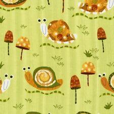 Robert Kaufman Amy Schimler Creatures Critters Snails Earth OOP Fabric Yard