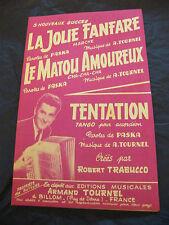 Partition La jolie fanfare Le Matou amoureux Tentation de Paska et A. Tournel