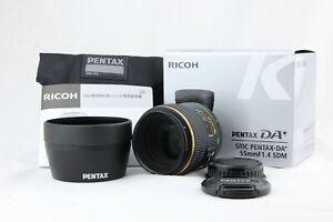 【 TOP MINT in BOX 】 PENTAX SMC DA Star 55mm f/1.4 SDM AF MF Lens From JAPAN