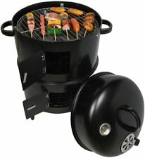 Vertical 33inch Steel Charcoal Smoker Heavy Duty Round Bbq Grill Outdoor Cooking