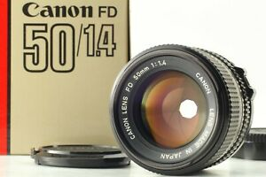 [Near Mint+++ in BOX] Canon New FD NFD 50mm F1.4 MF Lens Filter From Japan #5160