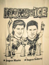 Icons of the Ice MARIO LEMIEUX & SIDNEY CROSBY PITTSBURGH PENGUINS (SM) T-Shirt