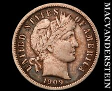 New listing 1909-D Barber Dime-Very Fine Semi Key Better Date #V1924