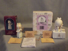 2 Precious Moments Figurines My Happiness & Once Upon A Holy Night Orig. Boxes
