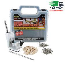 Pro Pocket Hole Jig Kit Tool System Woodworking Screw Drill 850 EZ Heavy Duty US