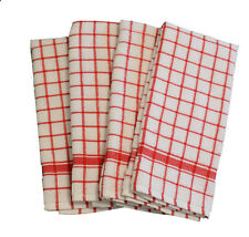 Cotton Kitchen Terry Towels Red 4/pack