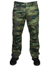 New KAM Mens Casual Camo Cargo Combat Pants Green Camouflage Waist 30 - 64