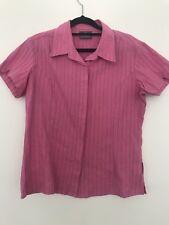 KATHMANDU   Short Sleeve Button Shirt   Womens   Size 12   Pink Outdoor Camping