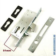 51 mm HOOK LOCK FOR SLIDING DOOR  GATE  EURO CYLINDER CASE MORTICE SASH LOCK