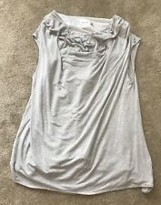 92c5219a4ca5f Lysse Plus Size 3X Grey Silver Sequin Sleeveless Tank Top Blouse