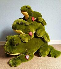 Rara! Unbespielte TEDDY HERMANN Frosch - Familie 26-55cm / 3 Frösche !!!