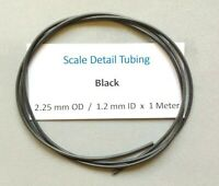 2.25 mm Black SiliconeTubing for Scale Model Detailing - Italeri..Tamiya..Revell
