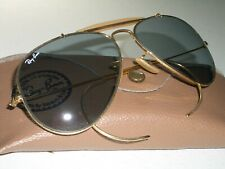 58-14 VINTAGE B&L RAY-BAN GEP BLUE PHOTOCHROMIC OUTDOORSMAN AVIATOR SUNGLASSES