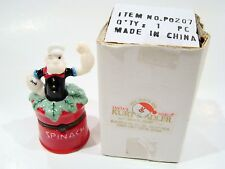 Porcelain Hinged Box  - Popeye in Spinach Can 1998 King Features Trinket Box