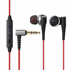 kb10 ELECOM EHP-CH2000S SV Hi-Res Stereo In-Ear Headphones Silver w Microphone