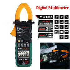 New MS2108A Digital Clamp Meter Multimeter AC DC Current Volt Tester LCD Display