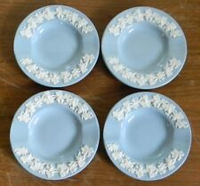 Wedgwood Embossed QUEENS WARE Cream on Lavender INDIVIDUAL ASHTRAYS Set of Four