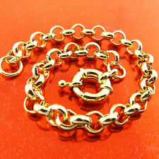 Bracelet Bangle Real 18K Yellow G/F Gold Solid Belcher Link Bolt Ring Fs3A381