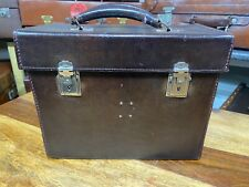 vintage leather bowls tool or cartridge case / suitcase box nice unusual size
