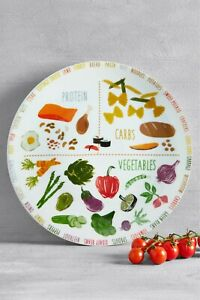 NEXT Porcelain large 27 cm Portion Control Plate  healthy eating new in box