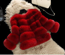 100% Real Genuine Fox Fur Coat Jacket Women Fashion Warm Winter Lady Coat