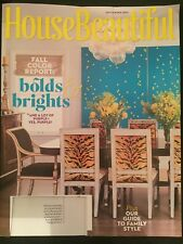 House Beautiful Magazine September 2017 - Fall Color Report: Bolds & Brights