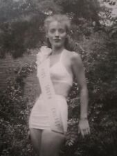 VINTAGE PERFECT 10 AMERICAN MISS SOUTH CHICAGO 1948 BIKINI PINUP TEEN GIRL PHOTO