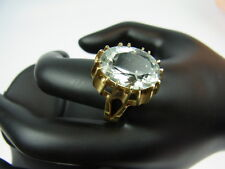 585er Gelbgold mit Aquamarin Ringgroße 64 Steingroße 1,7x1,2 cm Gewicht 4,09 gr