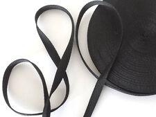 """12mm (1/2"""") Negro Correa de las correas de polipropileno cinta acolladores Hazlo tú mismo bolsa de nylon - 25 Mtr"""