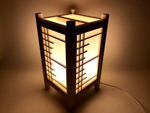 Japanese woodworking Lantern 四季 Four seasons Half grid Kumiko Shoji LED lighting