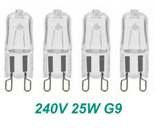 4 x 240V 25W G9 Halogen Light Lamp Globes Capsule Bulbs Bi-Pin Dimmable Clear