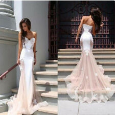 Prom Sexy Long Lace Dress Evening Party Cocktail Bridesmaid Formal Gown Custom
