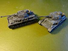 2x Painted Plastic Airfix WW2 Panzer IV tanks