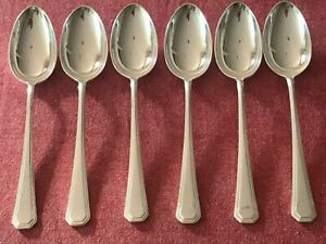 Great Set of 6 Silver Plated Mappin & Webb Athenian Dessert  Spoons 18.5cm