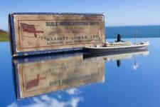 BOOTH LINE SS HILARY RARE BOXED BASSETT LOWKE WATERLINE MODEL SHIP C-1910