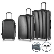 Wanderlite 3pc Luggage Trolley Set - Black