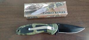 Camo Combat Ranger Tactical Folder Knife