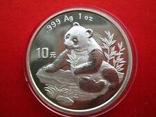 China 1998, WWF Panda 10 Yuan Silber, UNC (p005)