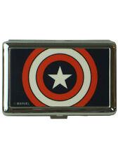 Captain America Shield Silver Metal Cigarette Case Wallet Marvel Comics New