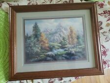 Vintage Home Interior by Lee Parkinson Scenary of the Snow Mountain and River.