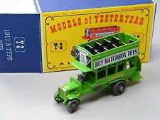 "Matchbox Yesteryear y-2 London Bus verde claro ""buy Matchbox Toys"" club reunión dbox"