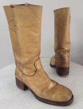Frye Vintage Yellow Tan Black Label Distressed Campus Boots Men's 11.5 D