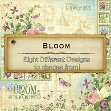 Graphic45 BLOOM COLLECTION 12x12 PAPERS (8) Designs CLEARANCE SALE!