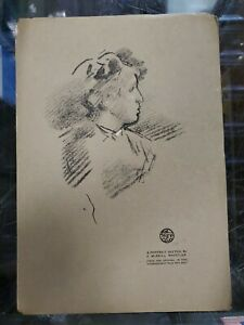 "James Abbott Whistler A Portrait Sketch Engraved Print 11.75""x8"""