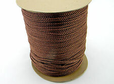 "NEW 5 YARDS DECORATIVE 1/8"" TWISTED CORD TRIM ROPE THREAD BROWN"