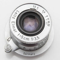 Ernst Leitz Wetzlar Elmar germany 5cm 5 cm 50mm 50 mm 1:3.5 3.5 - M39 M 39 Leica